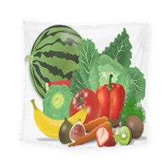 Fruits Vegetables Artichoke Banana Square Tapestry (small)