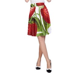 Food Fruit Leaf Leafy Leaves A Line Skirt