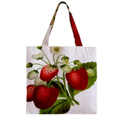 Food Fruit Leaf Leafy Leaves Zipper Grocery Tote Bag by Nexatart