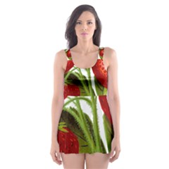 Food Fruit Leaf Leafy Leaves Skater Dress Swimsuit