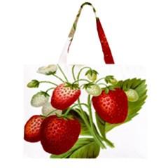 Food Fruit Leaf Leafy Leaves Zipper Large Tote Bag by Nexatart