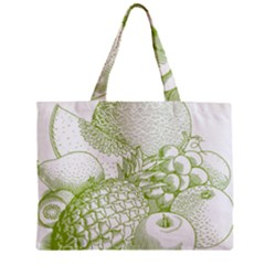Fruits Vintage Food Healthy Retro Zipper Mini Tote Bag