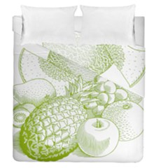 Fruits Vintage Food Healthy Retro Duvet Cover Double Side (queen Size)