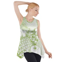 Fruits Vintage Food Healthy Retro Side Drop Tank Tunic