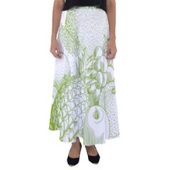 Fruits Vintage Food Healthy Retro Flared Maxi Skirt