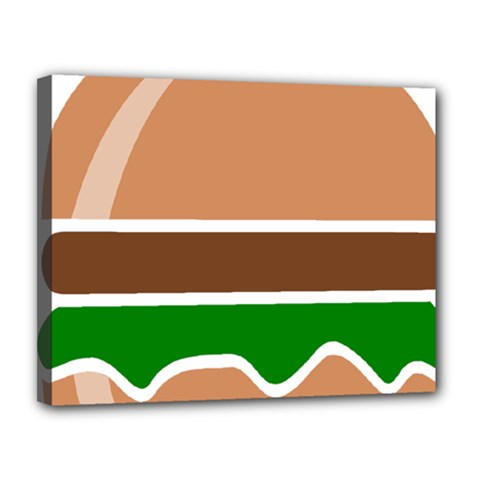 Hamburger Fast Food A Sandwich Canvas 14  X 11  by Nexatart