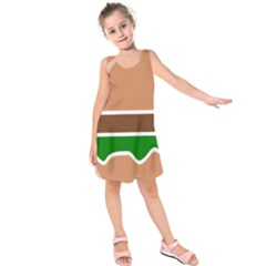 Hamburger Fast Food A Sandwich Kids  Sleeveless Dress
