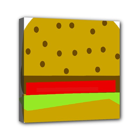 Hamburger Food Fast Food Burger Mini Canvas 6  X 6  by Nexatart