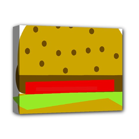 Hamburger Food Fast Food Burger Deluxe Canvas 14  X 11