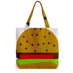 Hamburger Food Fast Food Burger Zipper Grocery Tote Bag by Nexatart