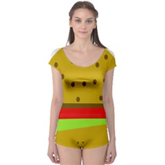 Hamburger Food Fast Food Burger Boyleg Leotard