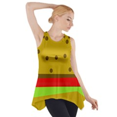 Hamburger Food Fast Food Burger Side Drop Tank Tunic