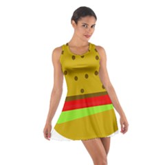 Hamburger Food Fast Food Burger Cotton Racerback Dress