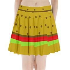 Hamburger Food Fast Food Burger Pleated Mini Skirt