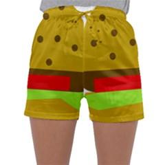 Hamburger Food Fast Food Burger Sleepwear Shorts