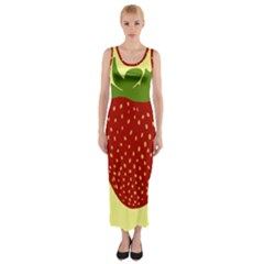 Nature Deserts Objects Isolated Fitted Maxi Dress