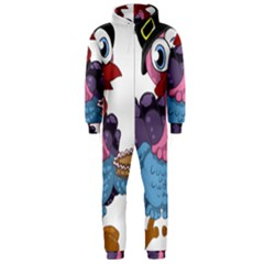 Turkey Animal Pie Tongue Feathers Hooded Jumpsuit (men)