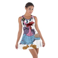 Turkey Animal Pie Tongue Feathers Cotton Racerback Dress