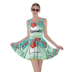 Pie Turkey Eating Fork Knife Hat Skater Dress