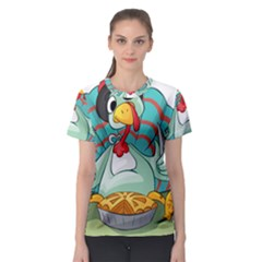 Pie Turkey Eating Fork Knife Hat Women s Sport Mesh Tee by Nexatart