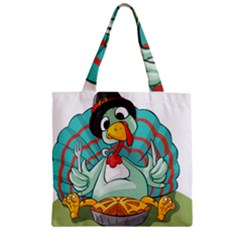 Pie Turkey Eating Fork Knife Hat Zipper Grocery Tote Bag by Nexatart