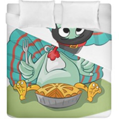 Pie Turkey Eating Fork Knife Hat Duvet Cover Double Side (king Size) by Nexatart