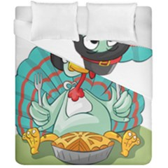 Pie Turkey Eating Fork Knife Hat Duvet Cover Double Side (california King Size) by Nexatart