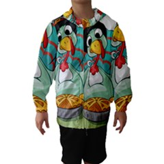 Pie Turkey Eating Fork Knife Hat Hooded Wind Breaker (kids)