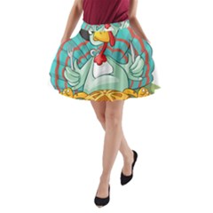 Pie Turkey Eating Fork Knife Hat A Line Pocket Skirt by Nexatart
