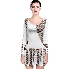 Love Heart Romance Passion Long Sleeve Bodycon Dress