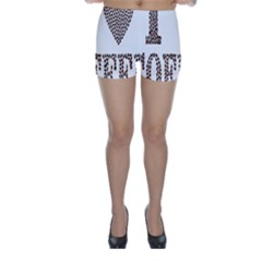 Love Heart Romance Passion Skinny Shorts