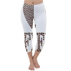 Love Heart Romance Passion Capri Winter Leggings  by Nexatart