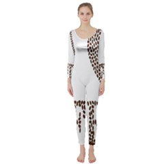 Love Heart Romance Passion Long Sleeve Catsuit
