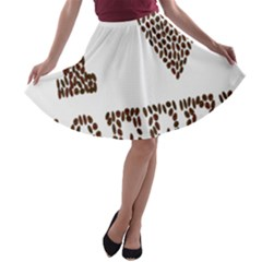 Love Heart Romance Passion A Line Skater Skirt by Nexatart