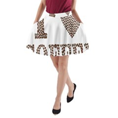 Love Heart Romance Passion A Line Pocket Skirt by Nexatart