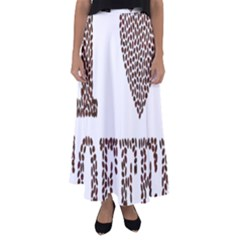 Love Heart Romance Passion Flared Maxi Skirt