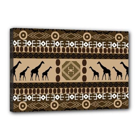Giraffe African Vector Pattern Canvas 18  X 12