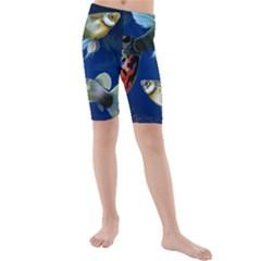 Marine Fishes Kids  Mid Length Swim Shorts by BangZart