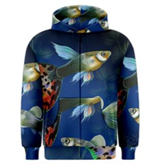 Marine Fishes Men s Zipper Hoodie