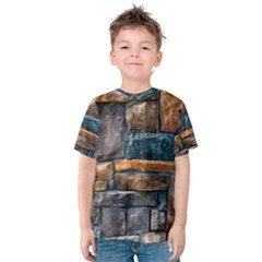 Brick Wall Pattern Kids  Cotton Tee