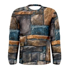 Brick Wall Pattern Men s Long Sleeve Tee