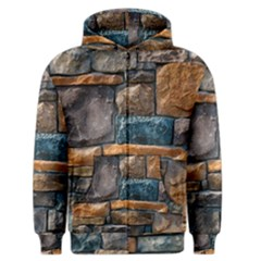 Brick Wall Pattern Men s Zipper Hoodie