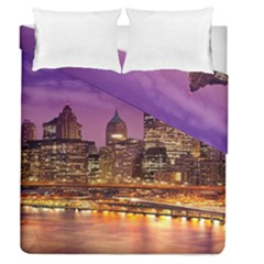 City Night Duvet Cover Double Side (queen Size) by BangZart