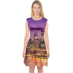 City Night Capsleeve Midi Dress