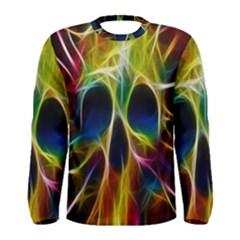 Skulls Multicolor Fractalius Colors Colorful Men s Long Sleeve Tee
