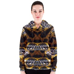 Textures Snake Skin Patterns Women s Zipper Hoodie