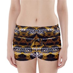 Textures Snake Skin Patterns Boyleg Bikini Wrap Bottoms