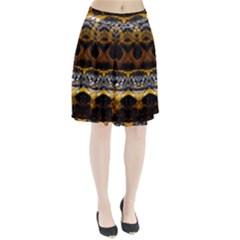 Textures Snake Skin Patterns Pleated Skirt