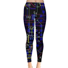 Technology Circuit Board Layout Leggings