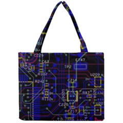 Technology Circuit Board Layout Mini Tote Bag by BangZart